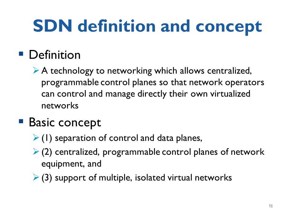 SDN definition and concept