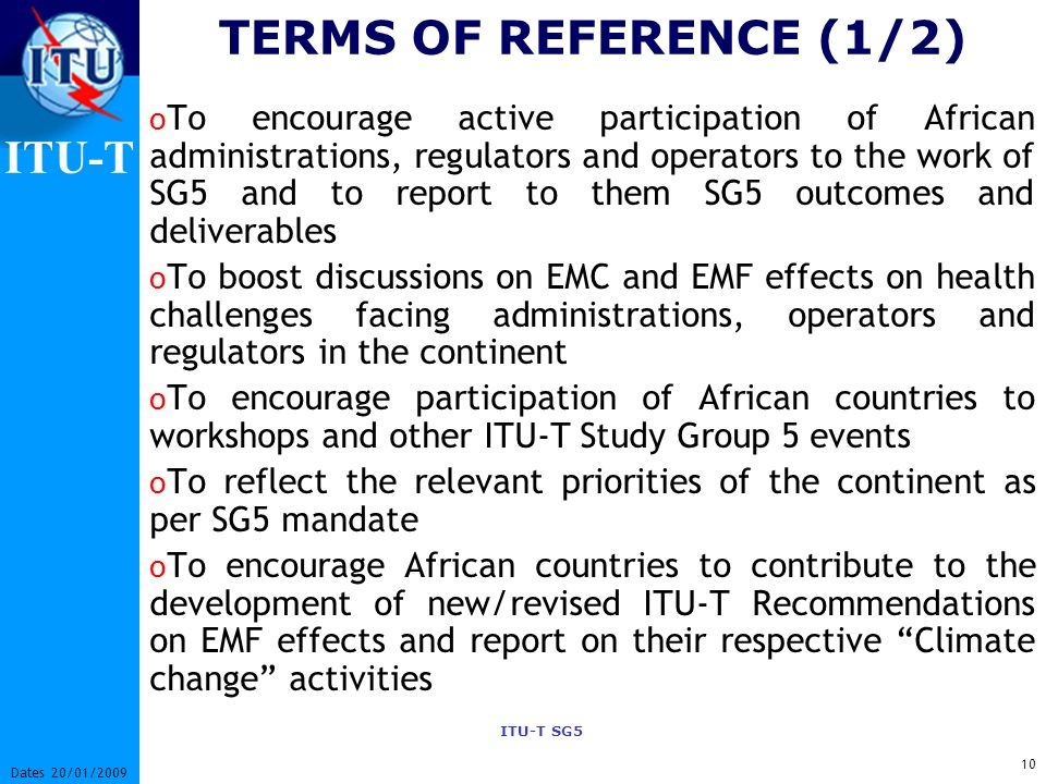 TERMS OF REFERENCE (1/2)