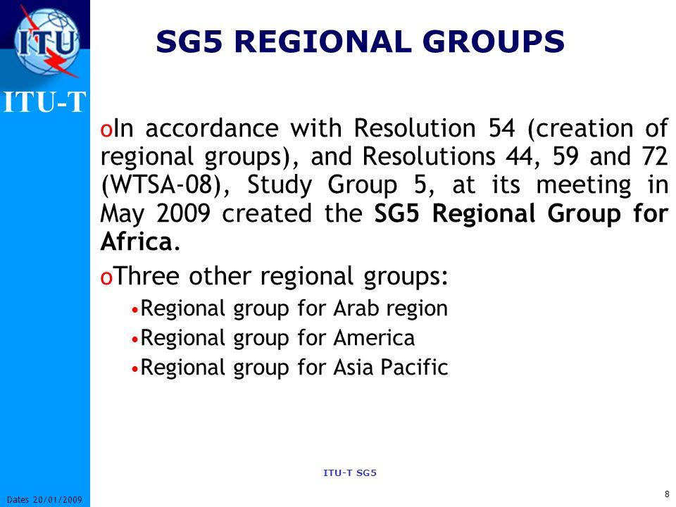 SG5 REGIONAL GROUPS