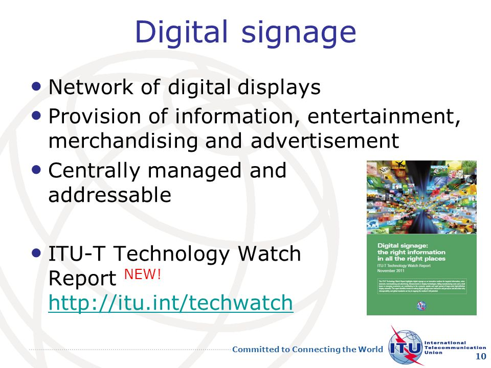 Digital signage Network of digital displays