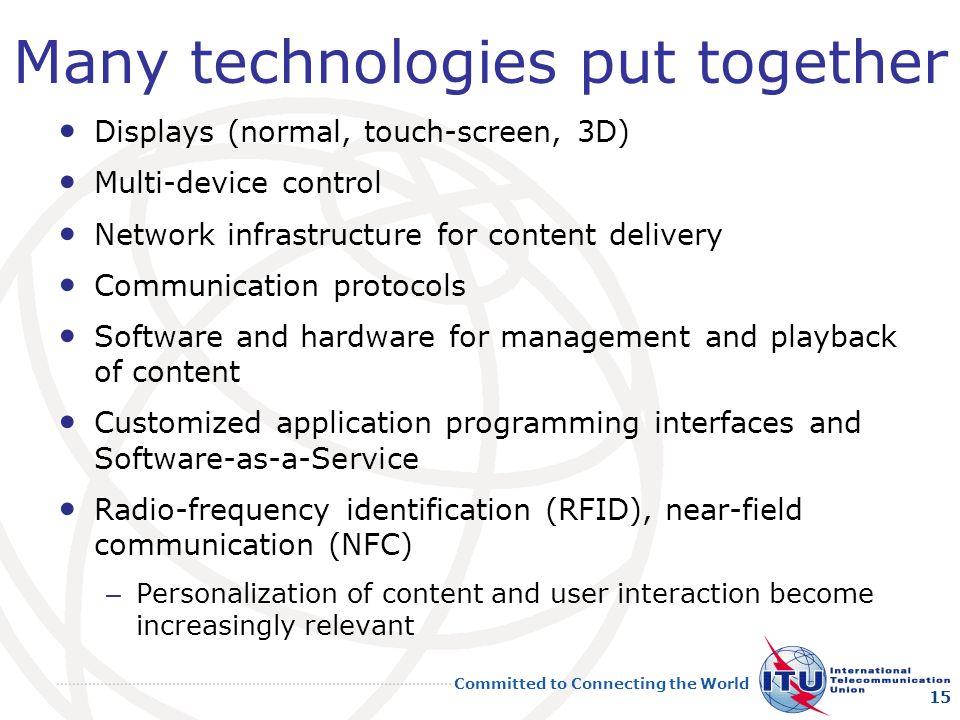 Many technologies put together