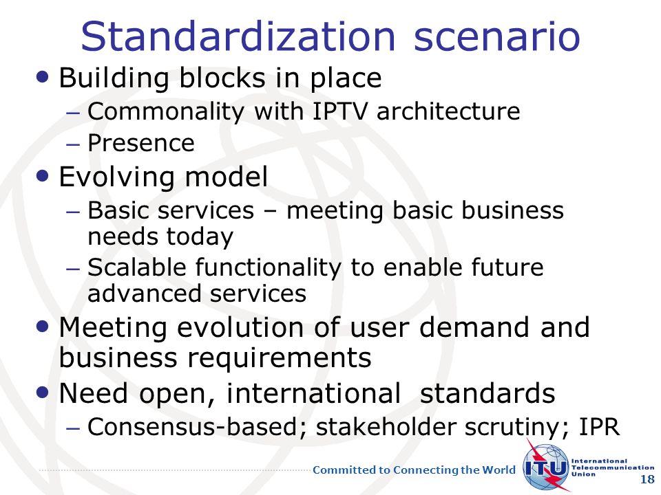 Standardization scenario