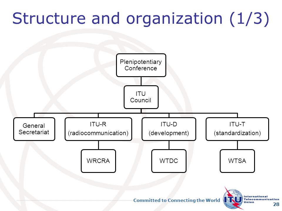 Structure and organization (1/3)