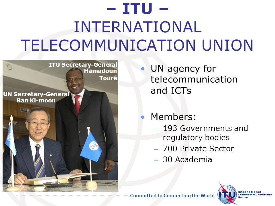 – ITU – INTERNATIONAL TELECOMMUNICATION UNION