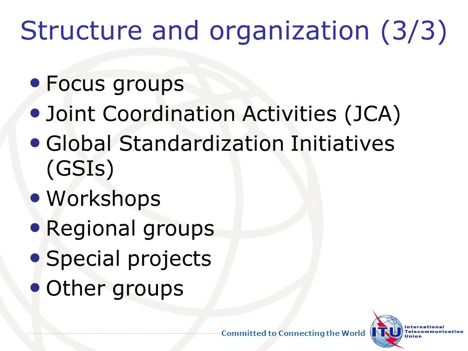 Structure and organization (3/3)