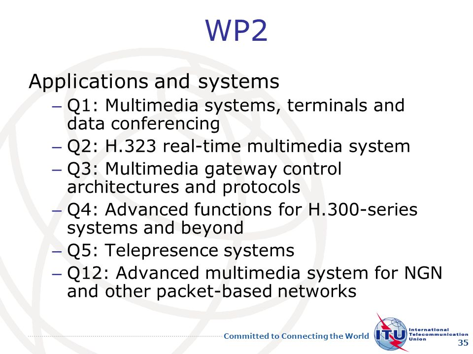 WP2 Applications and systems