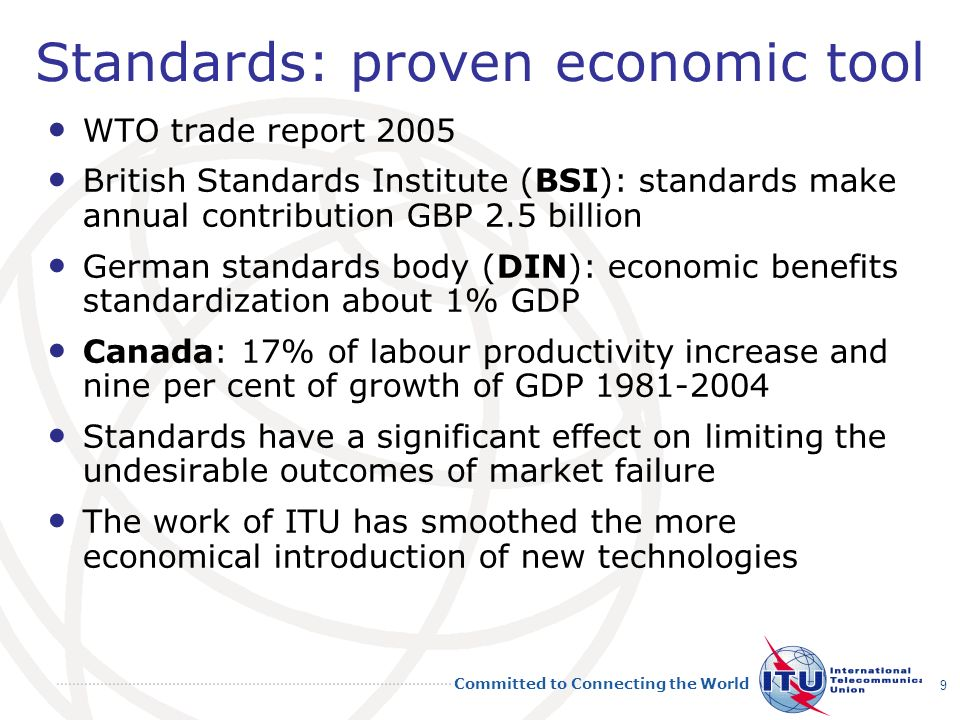 Standards: proven economic tool