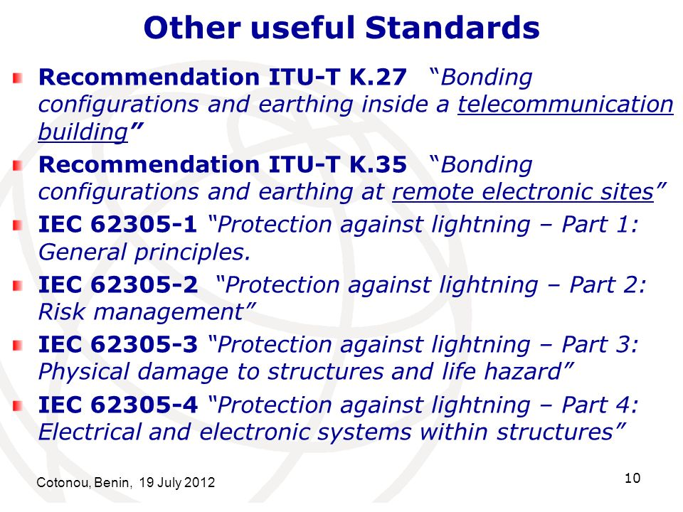 Other useful Standards