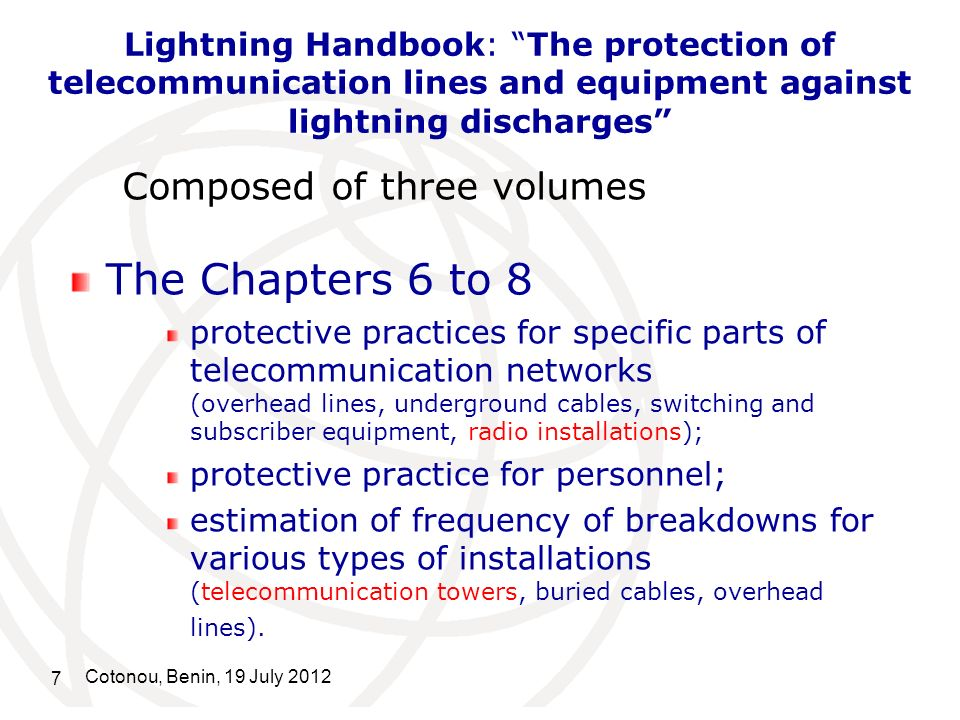 Lightning Handbook: The protection of telecommunication lines and equipment against lightning discharges