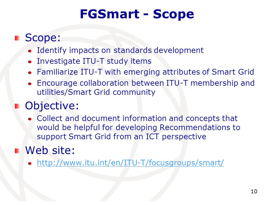 FGSmart - Scope Scope: Objective: Web site: