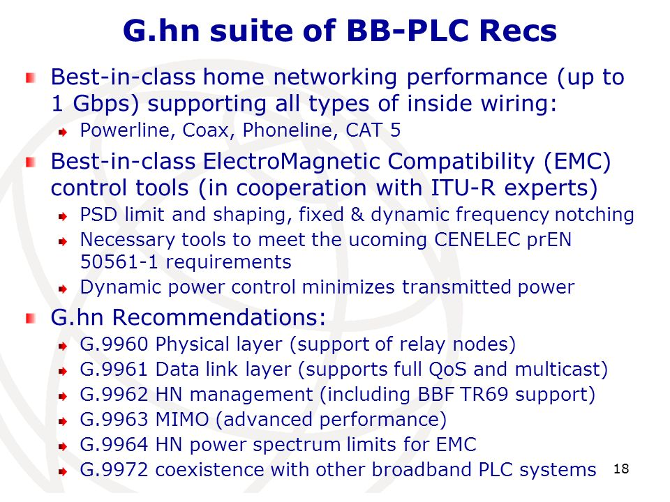 G.hn suite of BB-PLC Recs