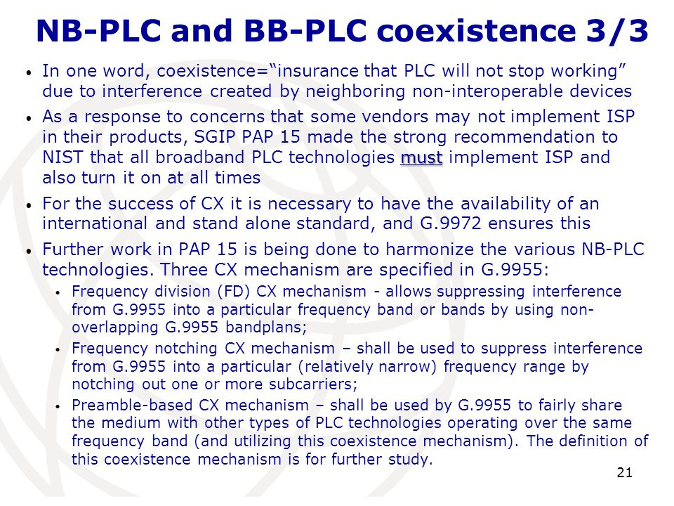NB-PLC and BB-PLC coexistence 3/3