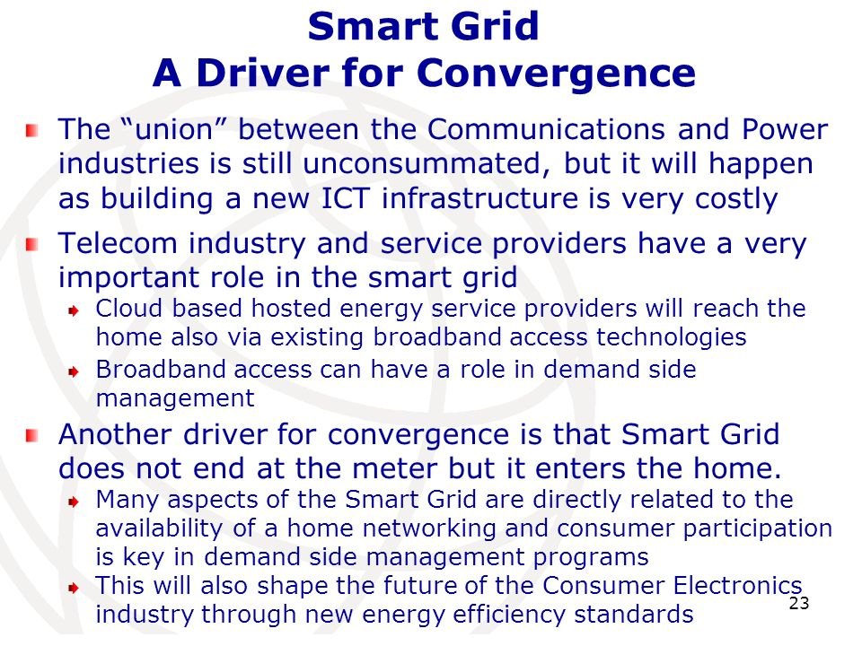 Smart Grid A Driver for Convergence