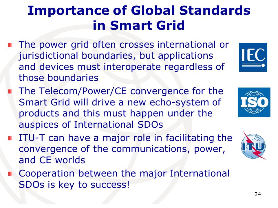 Importance of Global Standards in Smart Grid