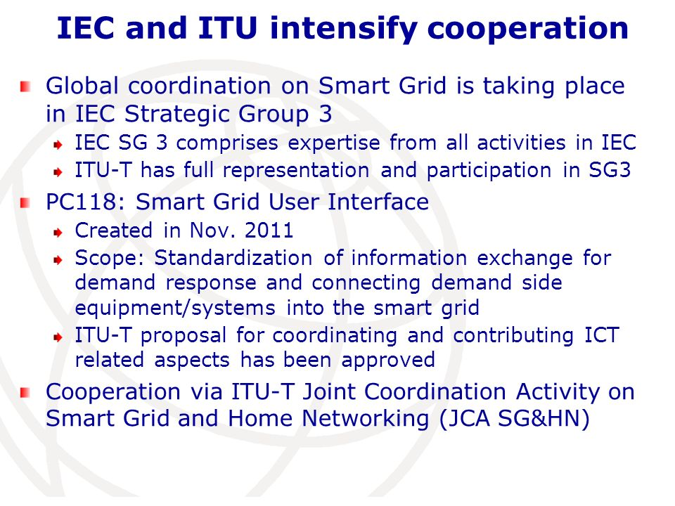 IEC and ITU intensify cooperation