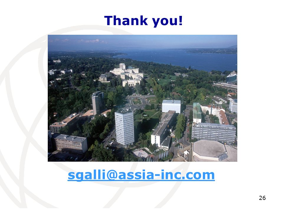 Thank you! sgalli@assia-inc.com