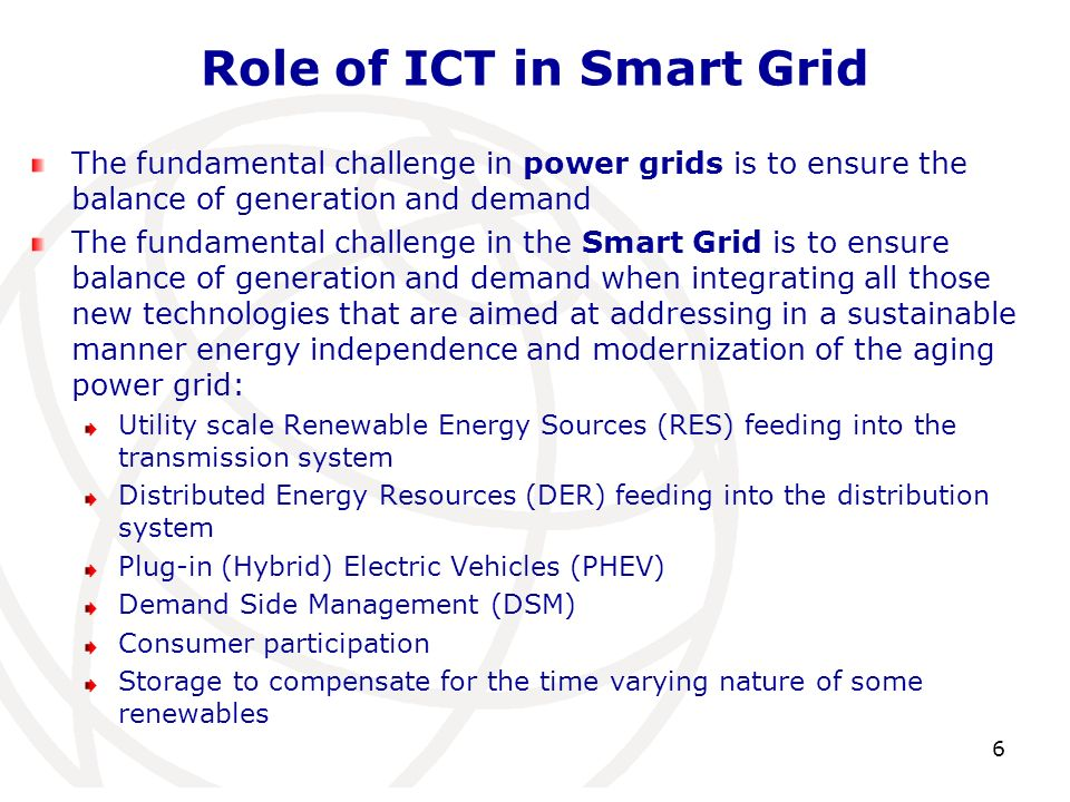 Role of ICT in Smart Grid