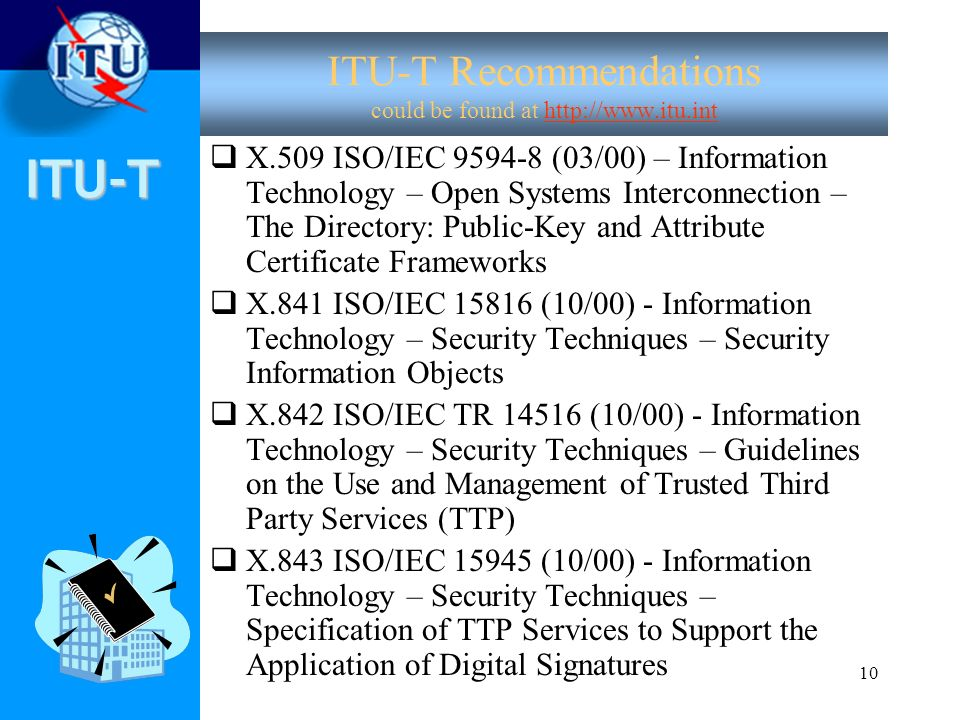 ITU-T Recommendations could be found at http://www.itu.int