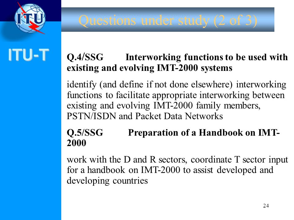 Questions under study (2 of 3)
