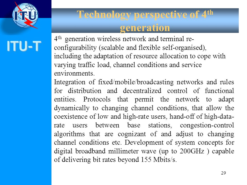 Technology perspective of 4th generation