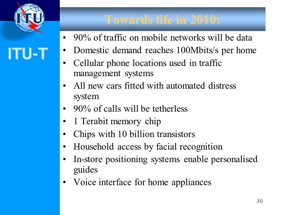 Towards life in 2010: 90% of traffic on mobile networks will be data