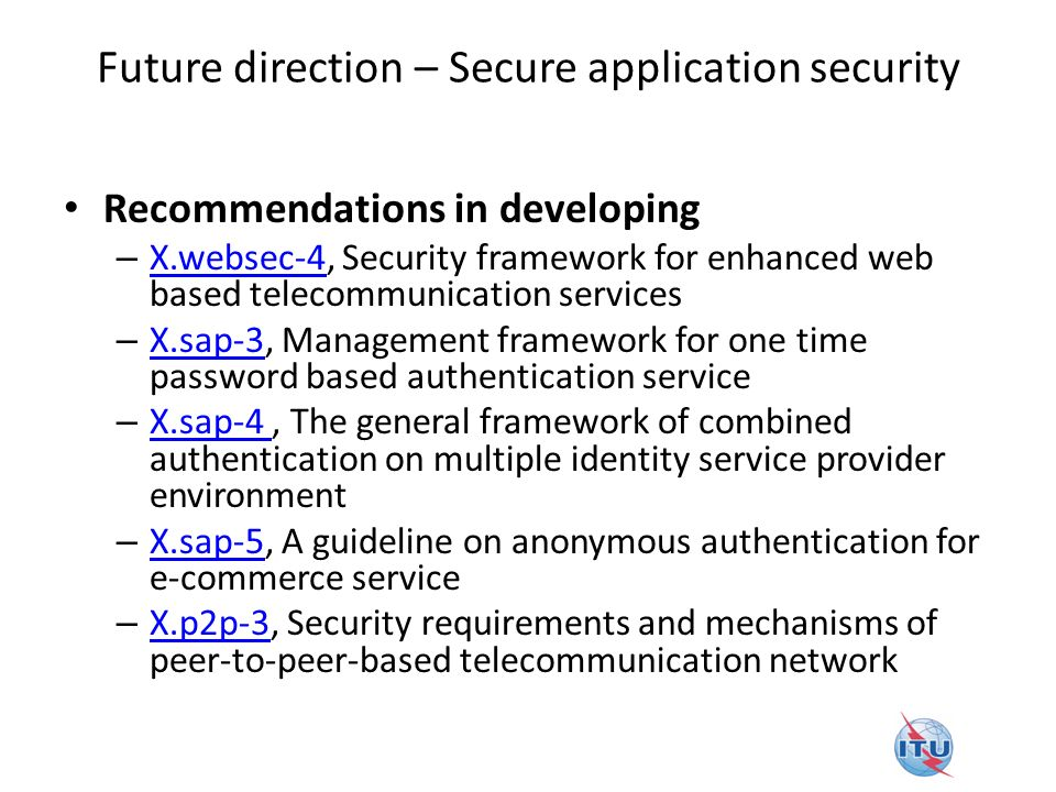 Future direction – Secure application security