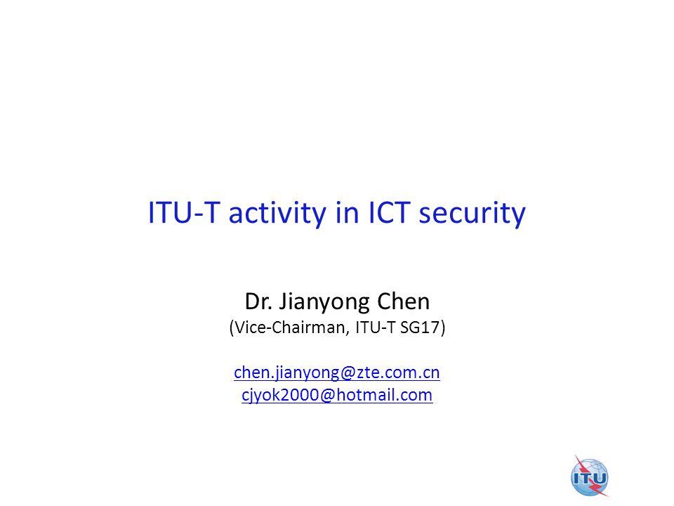 ITU-T activity in ICT security