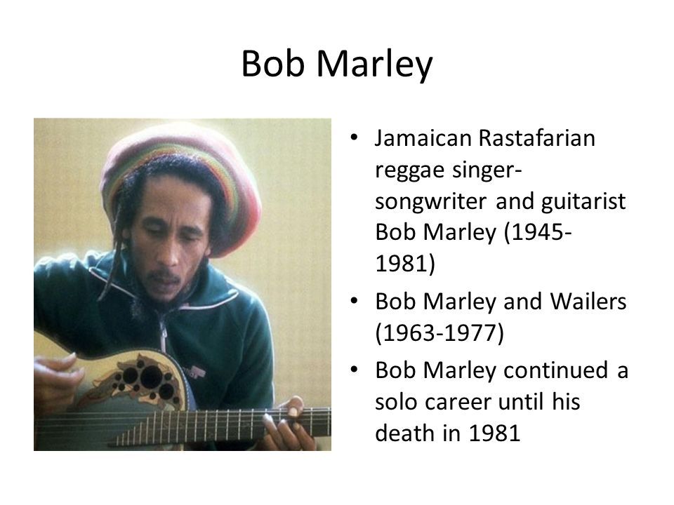 a biography of bob marley the jamaican reggae singer Learn about bob marley (reggae singer): his birthday, what he did before fame, his family life, fun trivia facts, popularity rankings, and more.