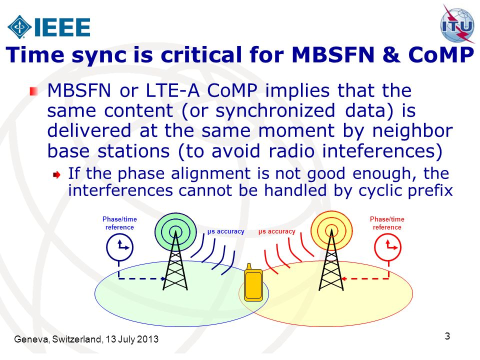 Time sync is critical for MBSFN & CoMP