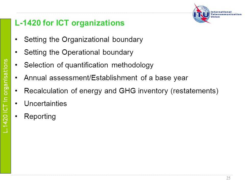 L-1420 for ICT organizations