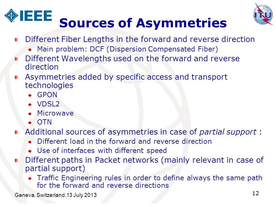 Sources of Asymmetries