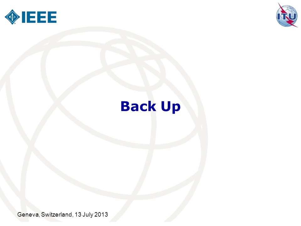 Back Up Geneva, Switzerland, 13 July 2013