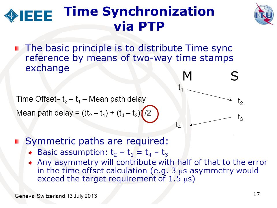 Time Synchronization via PTP
