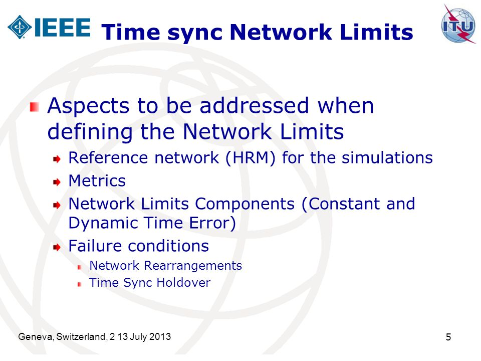 Time sync Network Limits