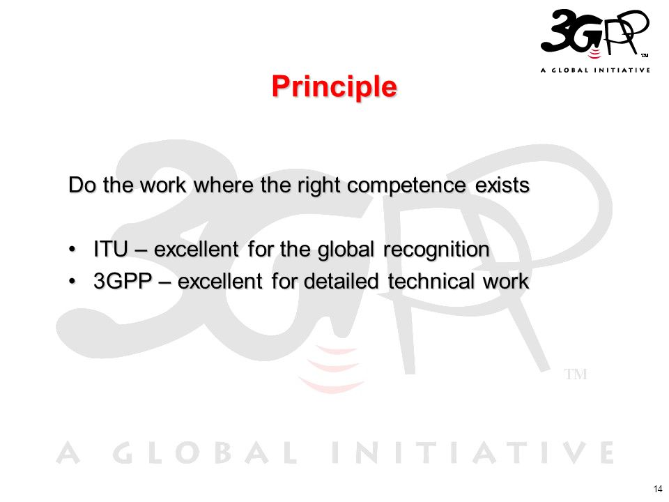 Principle Do the work where the right competence exists