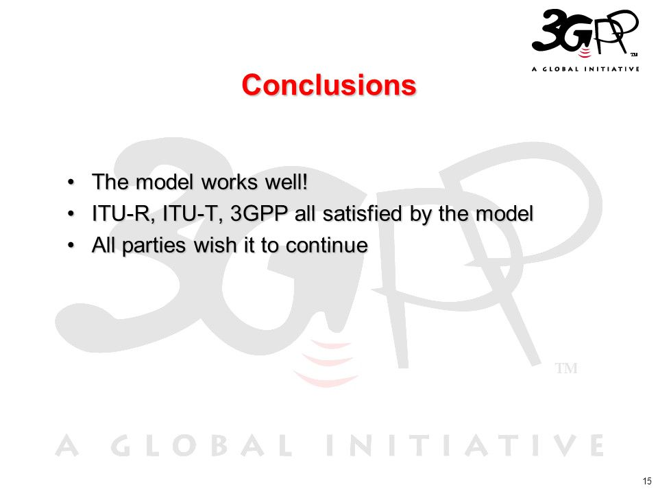 Conclusions The model works well!