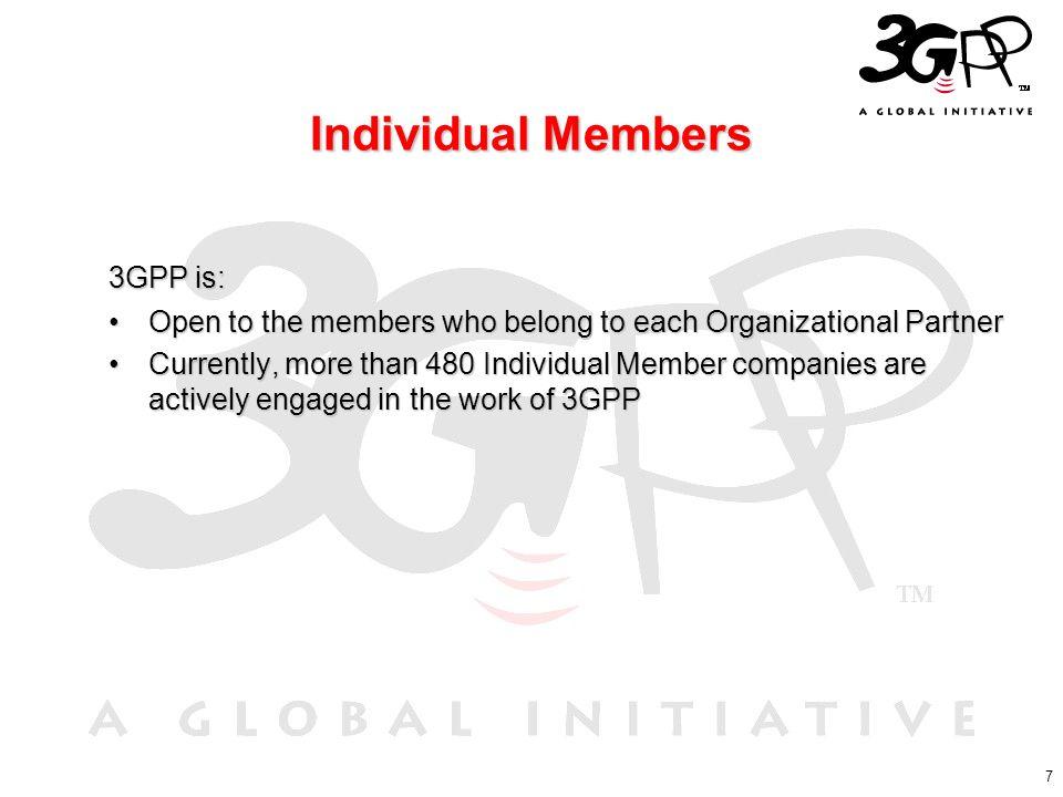 Individual Members 3GPP is: