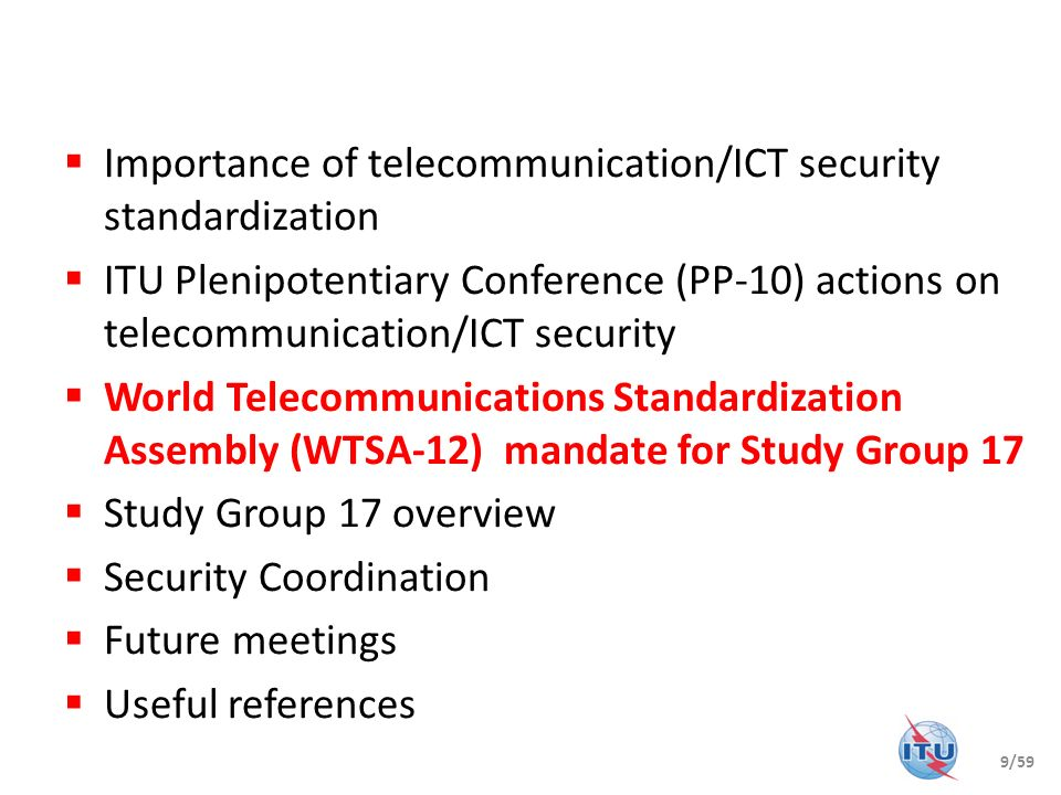 Importance of telecommunication/ICT security standardization