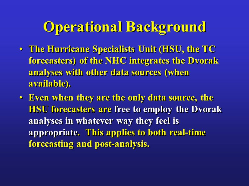Operational Background
