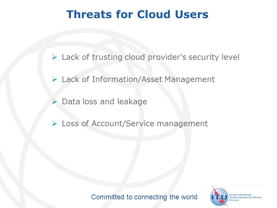 Threats for Cloud Users