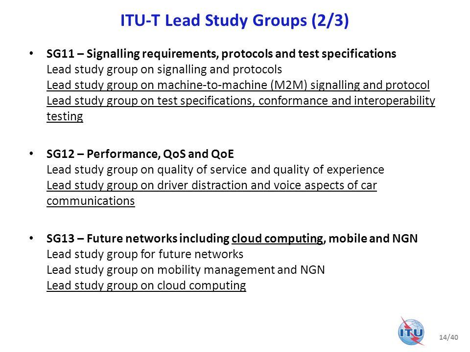 ITU-T Lead Study Groups (2/3)
