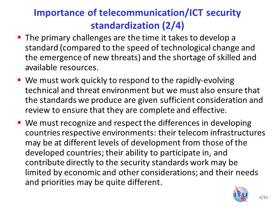 Importance of telecommunication/ICT security standardization (2/4)