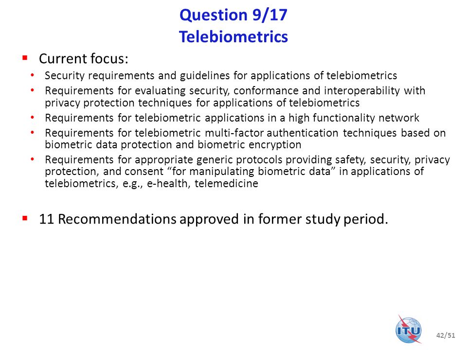 Question 9/17 Telebiometrics