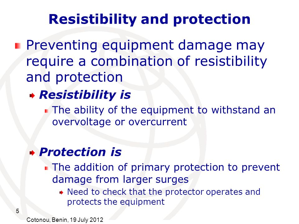Resistibility and protection