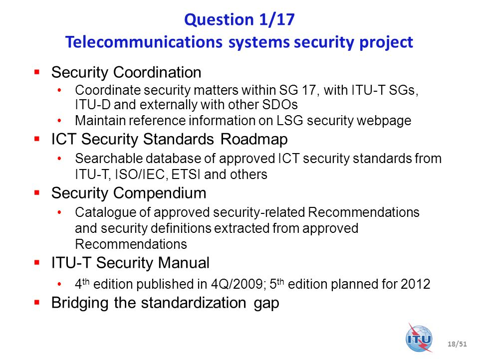 Question 1/17 Telecommunications systems security project