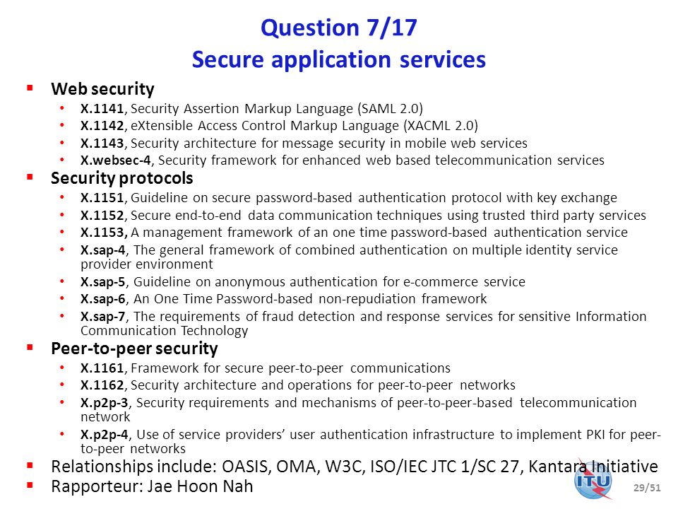 Question 7/17 Secure application services