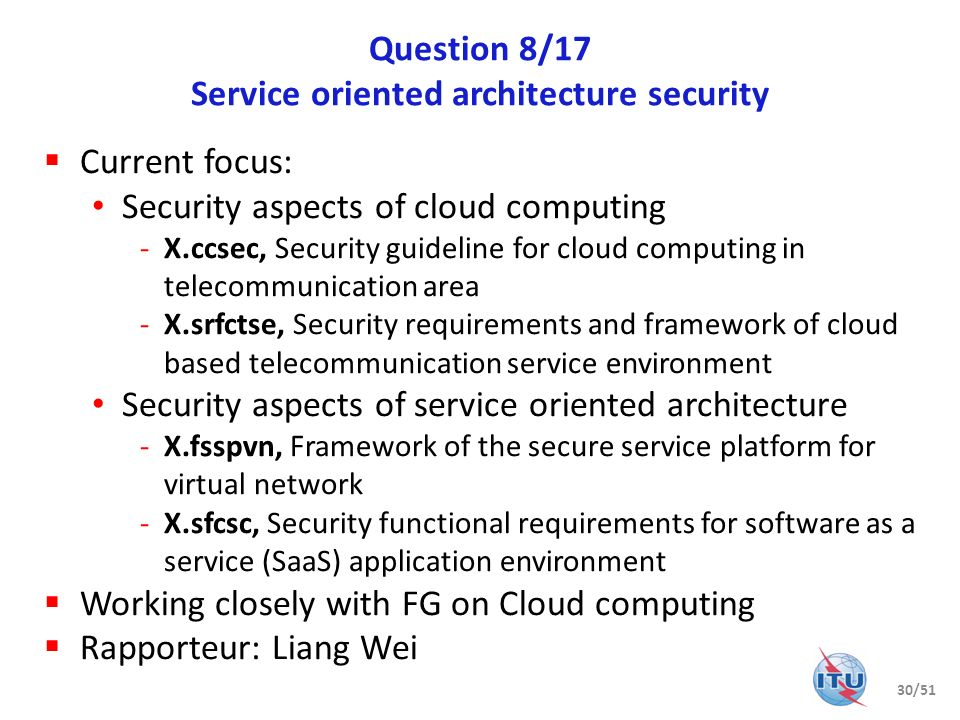 Question 8/17 Service oriented architecture security