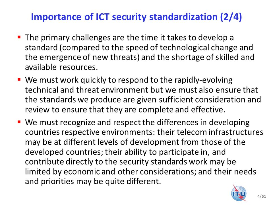 Importance of ICT security standardization (2/4)