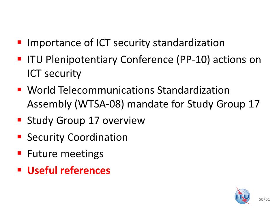 Importance of ICT security standardization