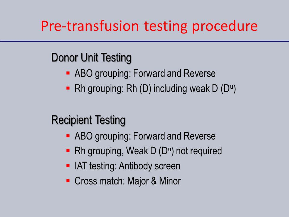 pre transfusion blood tests Pretransfusion testing is carried out in all hospital blood bank laboratories and is used to minimise the risk of encurring a haemolytic transfusion reaction haemolytic transfusion.